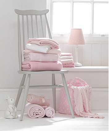 Mothercare Cotton Fitted Moses Basket Sheets 2 Pack Pink