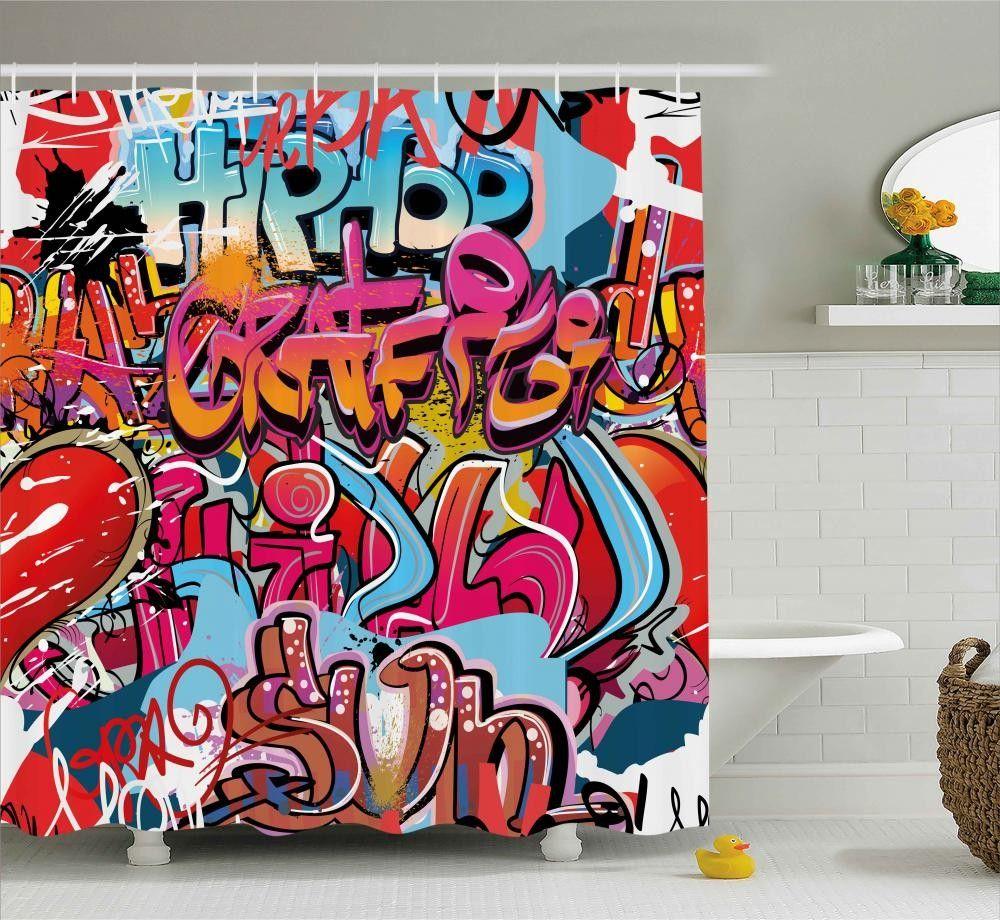 Hip Hop Street Art Shower Curtain