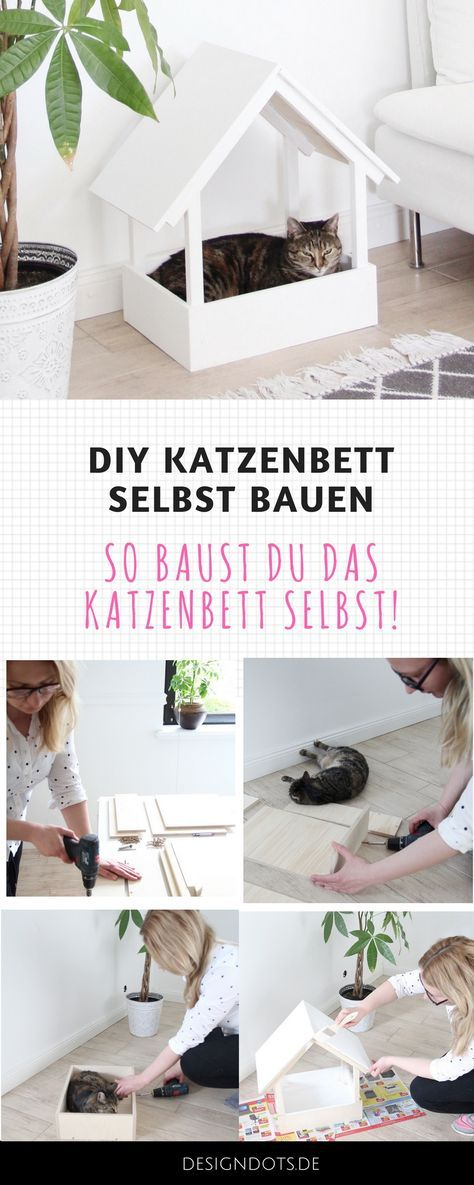 diy stillvolles katzenbett selbst bauen katzenm bel. Black Bedroom Furniture Sets. Home Design Ideas