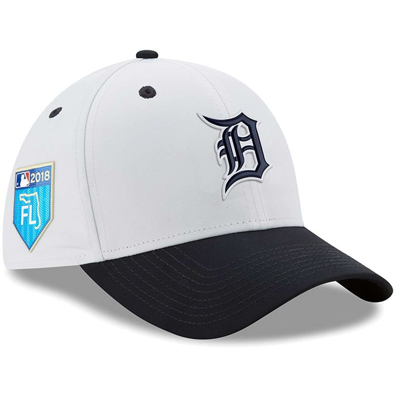 new style 40304 a1b8b Detroit Tigers New Era 2018 Spring Training Collection Prolight 39THIRTY  Flex Hat – White