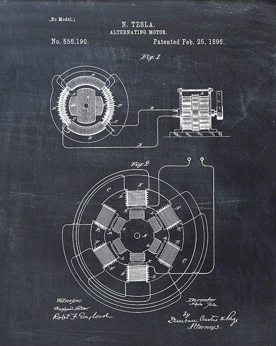 Solar Panel Poster Print Industrial Decor Science Teacher Engineer Gift