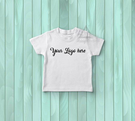 White Baby Tshirt Mockup Toddler Tshirt Mockup Baby Clothing