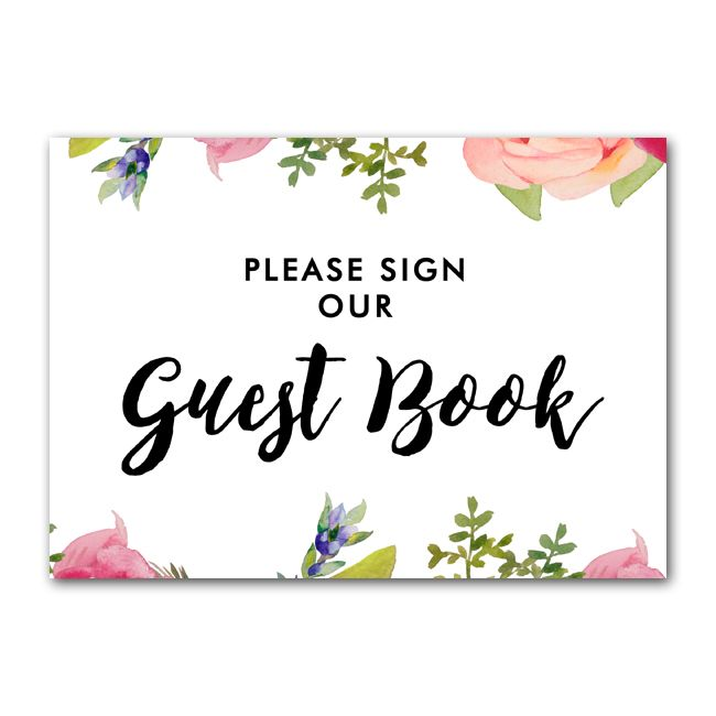 It is a photo of Please Sign Our Guestbook Free Printable with please take