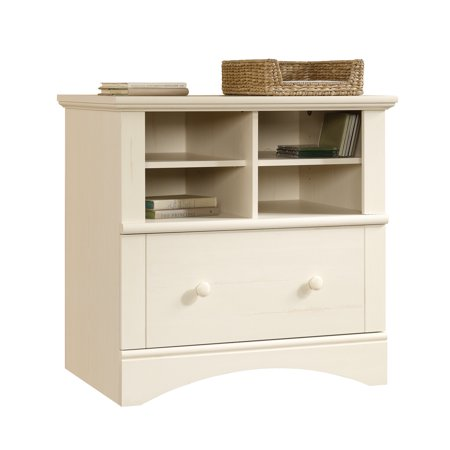 Sauder Harbor View Lateral File Antiqued White Finish Walmart