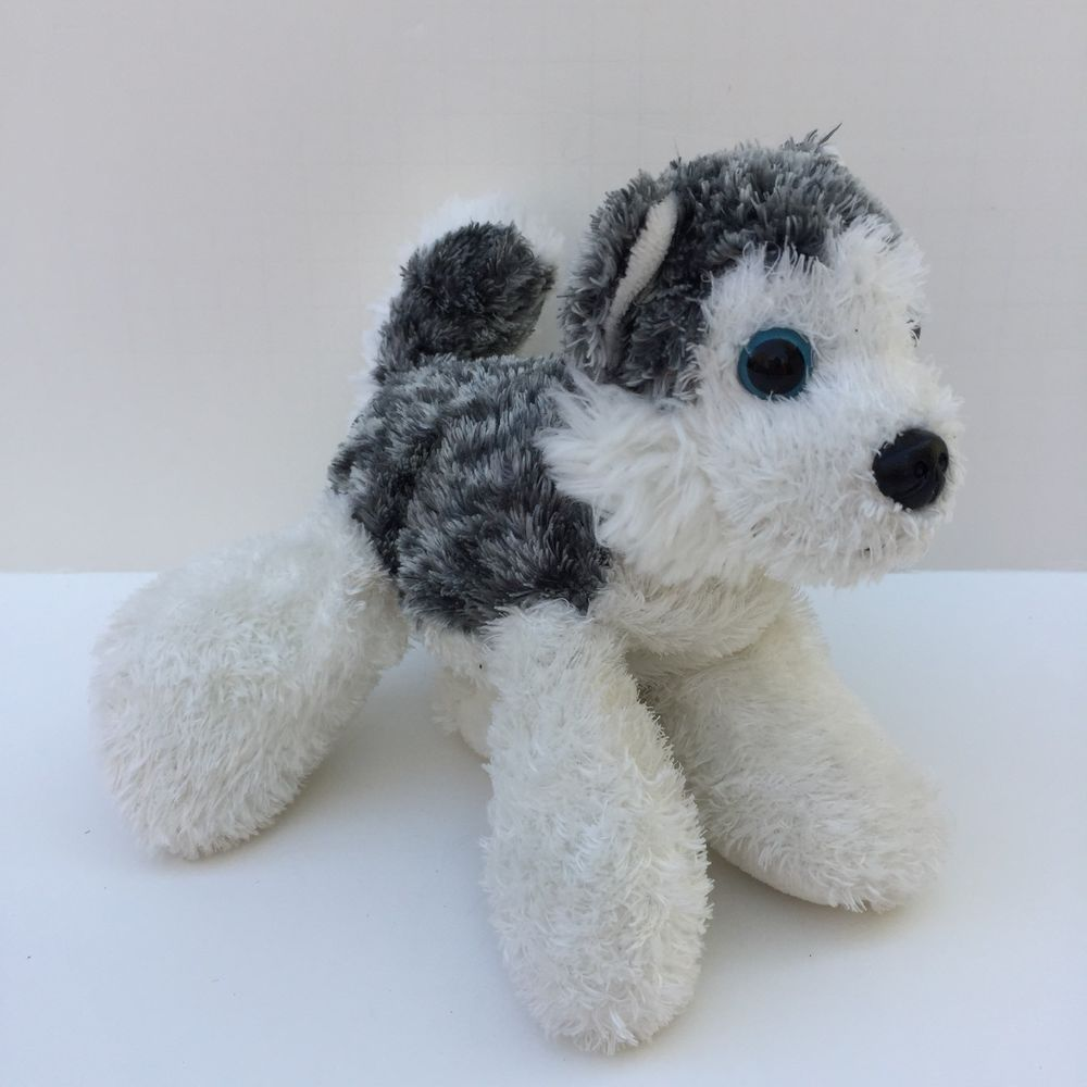 Aurora Mush Mini Flopsie 6 Plush Siberian Husky Dog Wolf Stuffed