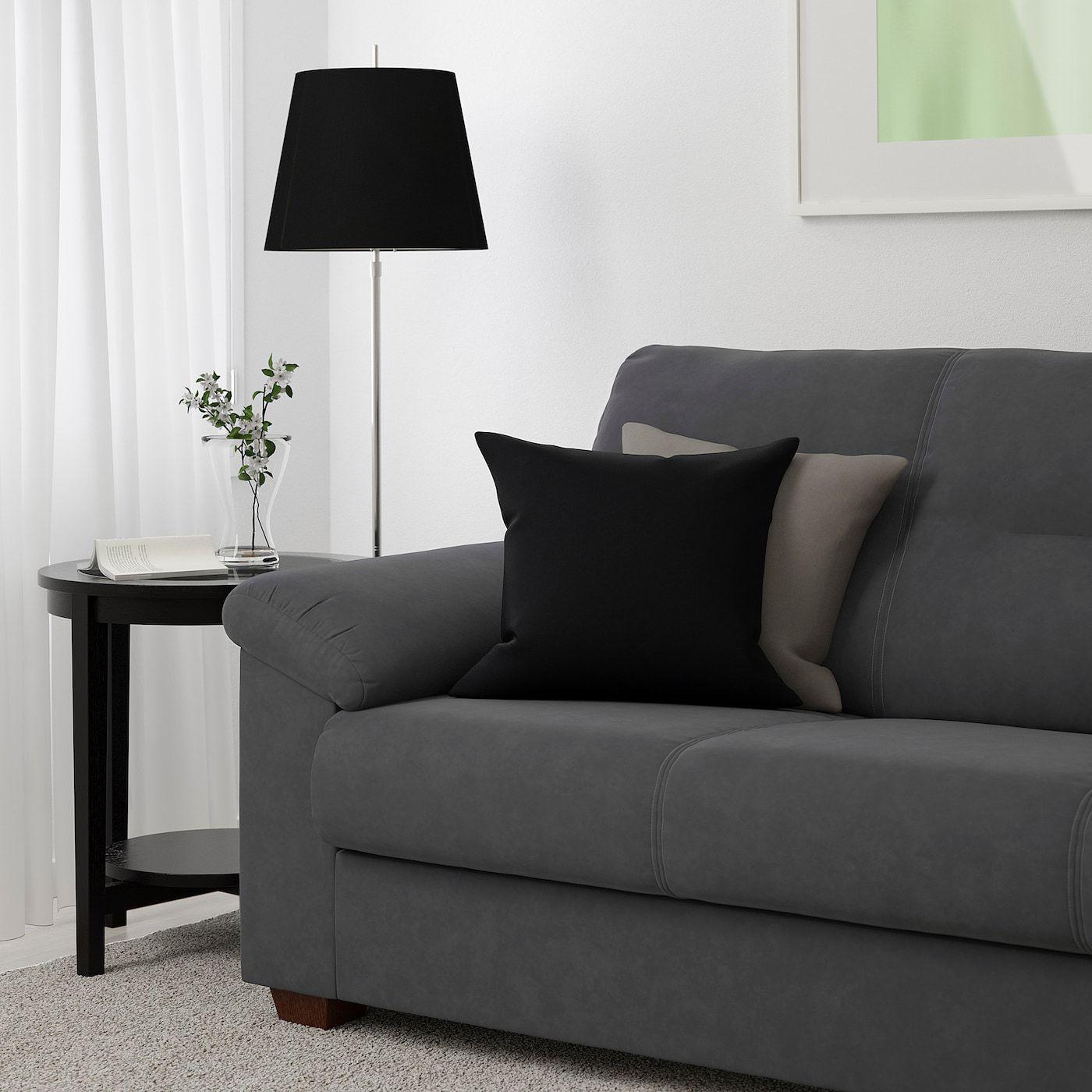 Knislinge Sofa Samsta Dark Gray In 2020 Sofa Ikea Love Seat