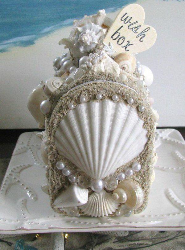 hochzeitswünsche box perlen muscheln