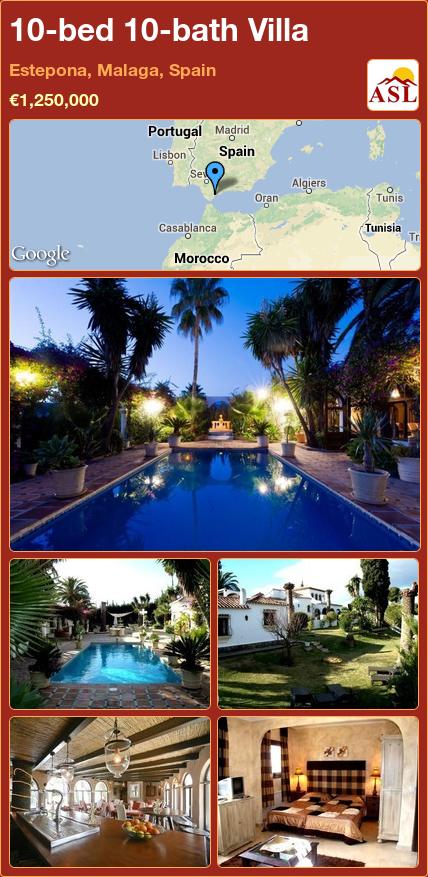 10-bed 10-bath Villa in Estepona, Malaga, Spain ►€1,250,000 #PropertyForSaleInSpain