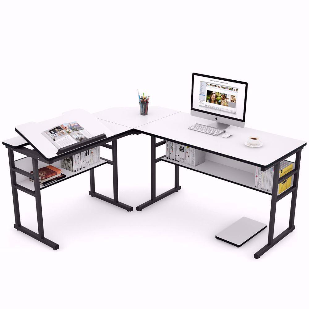 Not Just A Computer Desk Office Desk Can Also Be A Drawing Table Manager Desk Study Table Gaming Desk In 2020 Modern L Shaped Desk Corner Computer Desk L Shaped Desk