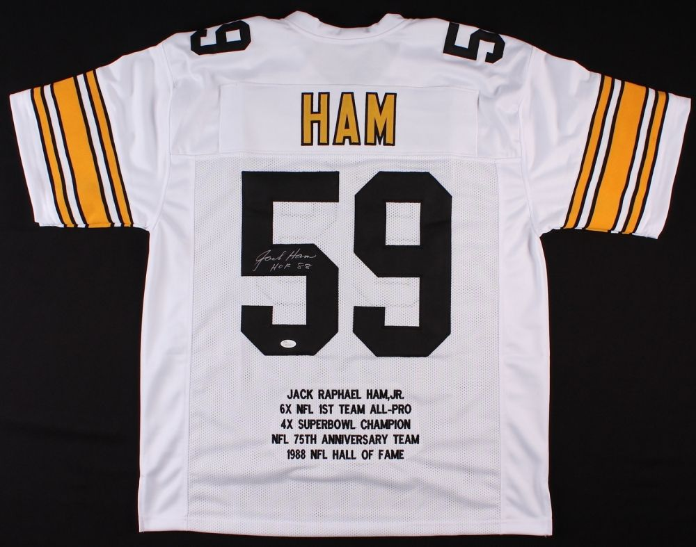 ebf19aced42 Jack Ham Signed Steelers Career Highlight Stat Jersey Inscribed