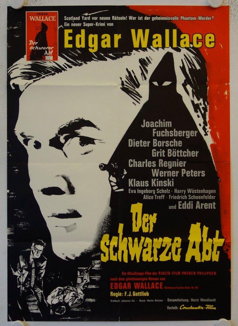 The Black Abbot 1963 Der Schwarze Abt Altes Filmplakat Krimi