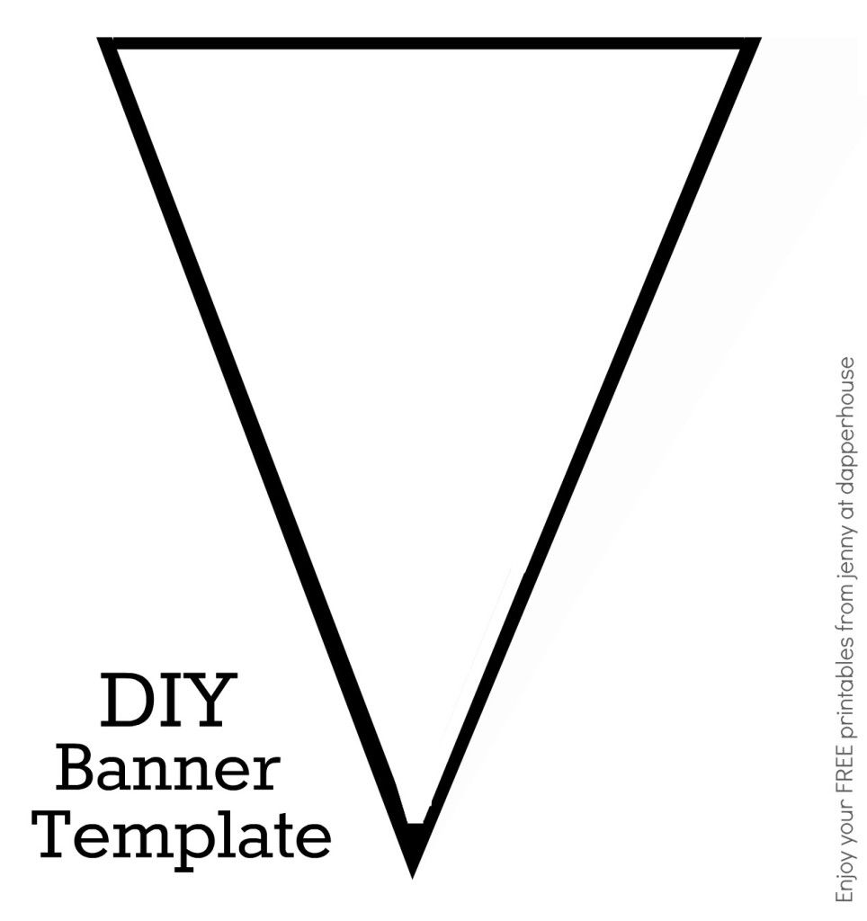 Diy banner template free printable from jenny at
