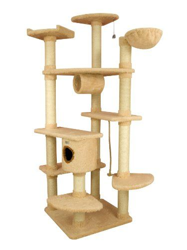 Premium Grosser Kratzbaum X8302 Von Armarkat 214 Cm Hoch Mit Dicken Sisalstammen Grosse Liegeflache Liegemulde Fur Grosse Und Schwere Katzen Sehr Robust Kratzbaum