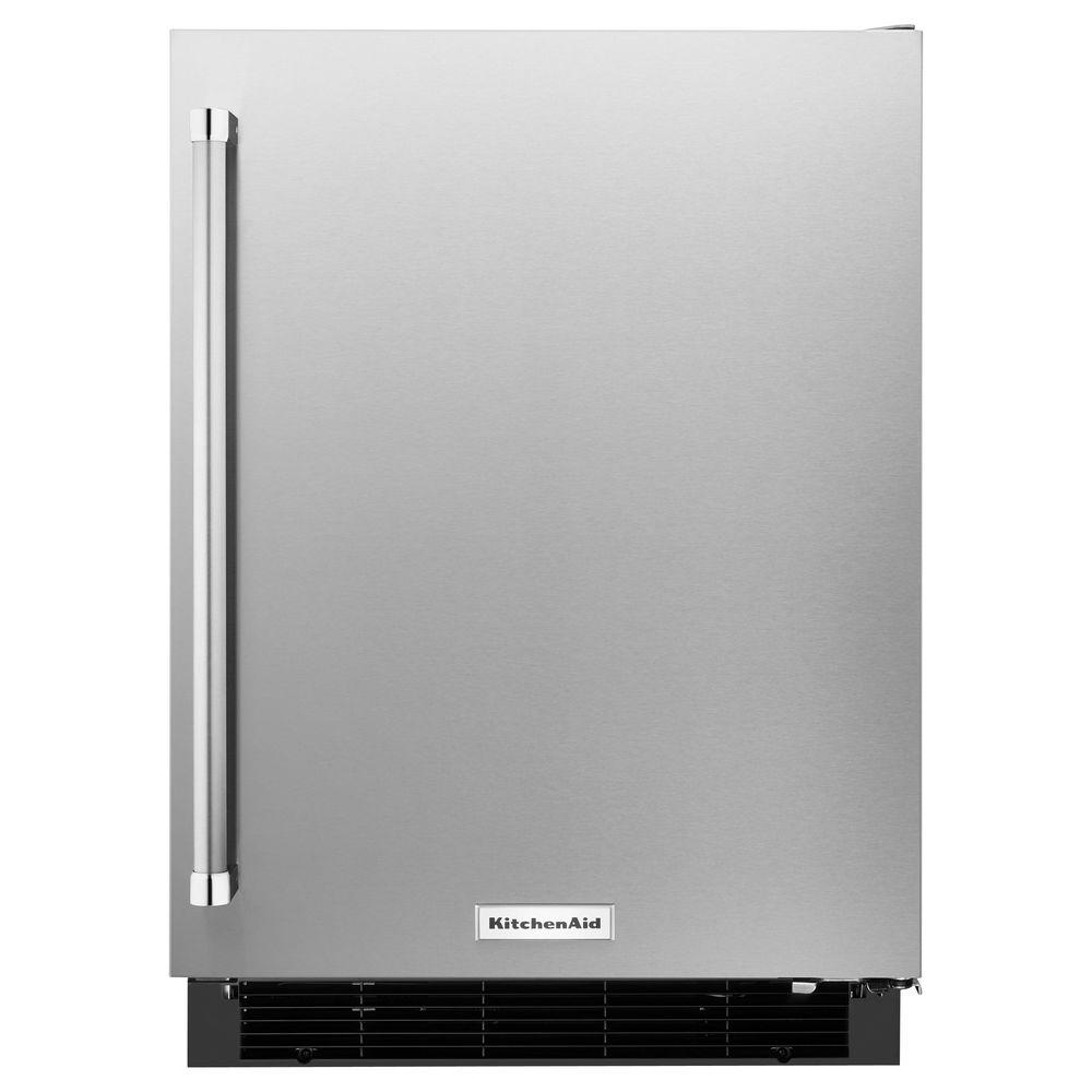 Kitchenaid 4 9 Cu Ft Mini Refrigerator In Undercounter Refrigerator Stainless Steel Fridge Stainless Steel Refrigerator
