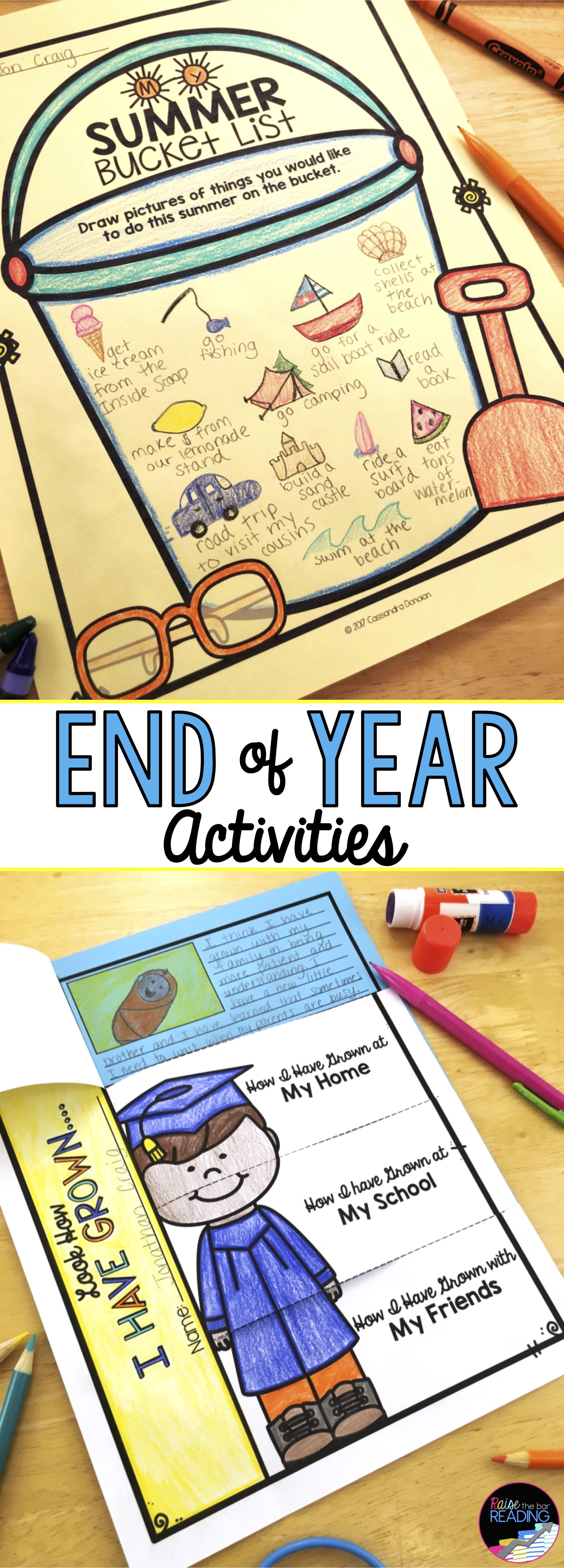 End Of Year Activities No Prep Last Week Of School