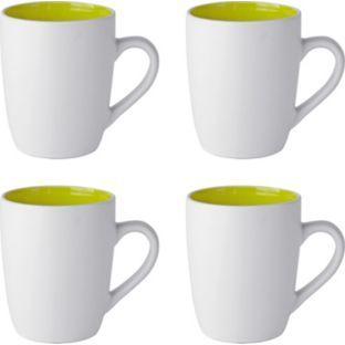 Buy ColourMatch 4 Piece Two Tone Mug Set Apple Green at