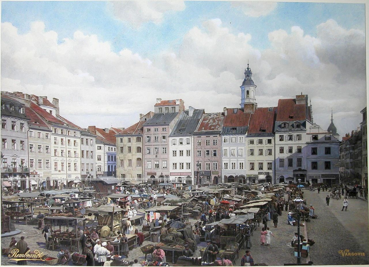 Old Town market, @ the beginning of XX c., Warsaw, Poland