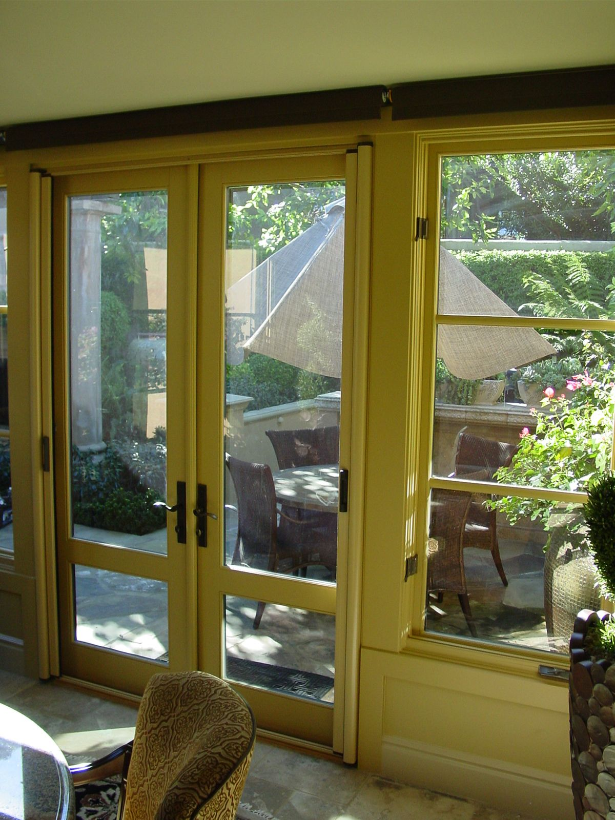 Custom Color Stowaway Invisible Screen Door For Outswing Double Doors Inside Mount Retractable Photo By Clic Home Improvement Products Of