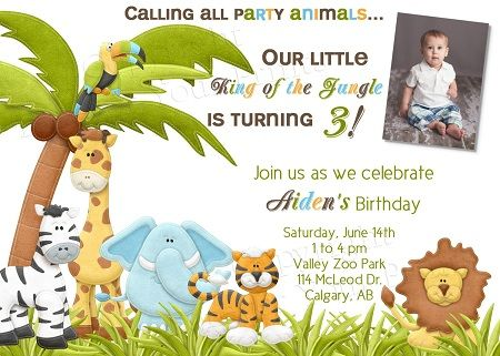 Free Safari Birthday Invitations Ideas