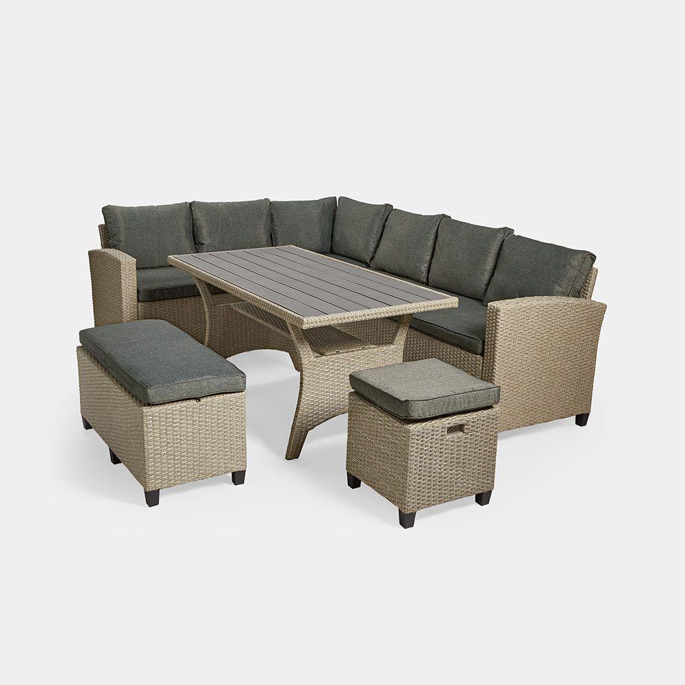 9 Seater Rattan Corner Dining Set In 2020 Corner Dining Set