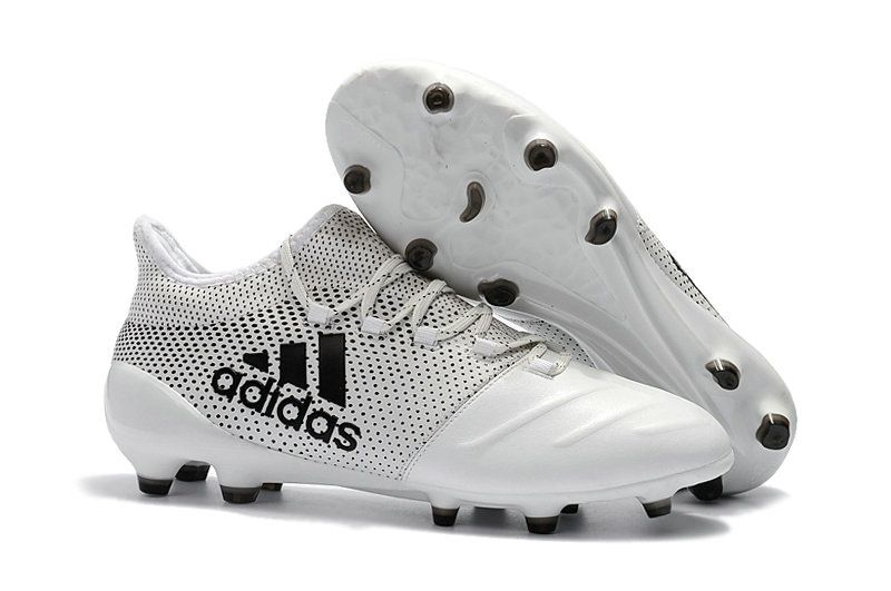 pretty nice 253ce 6e971 Men Adidas X 17 1 Leather FG 2018 World Cup Football Boots White Black