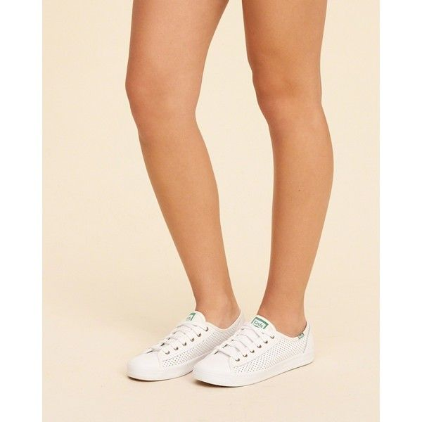 c16a073e47bd Hollister Keds Kickstart Perf Leather Sneaker ( 28) ❤ liked on Polyvore  featuring shoes