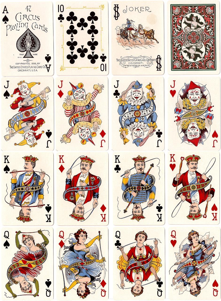 Circus no47 playing cards art