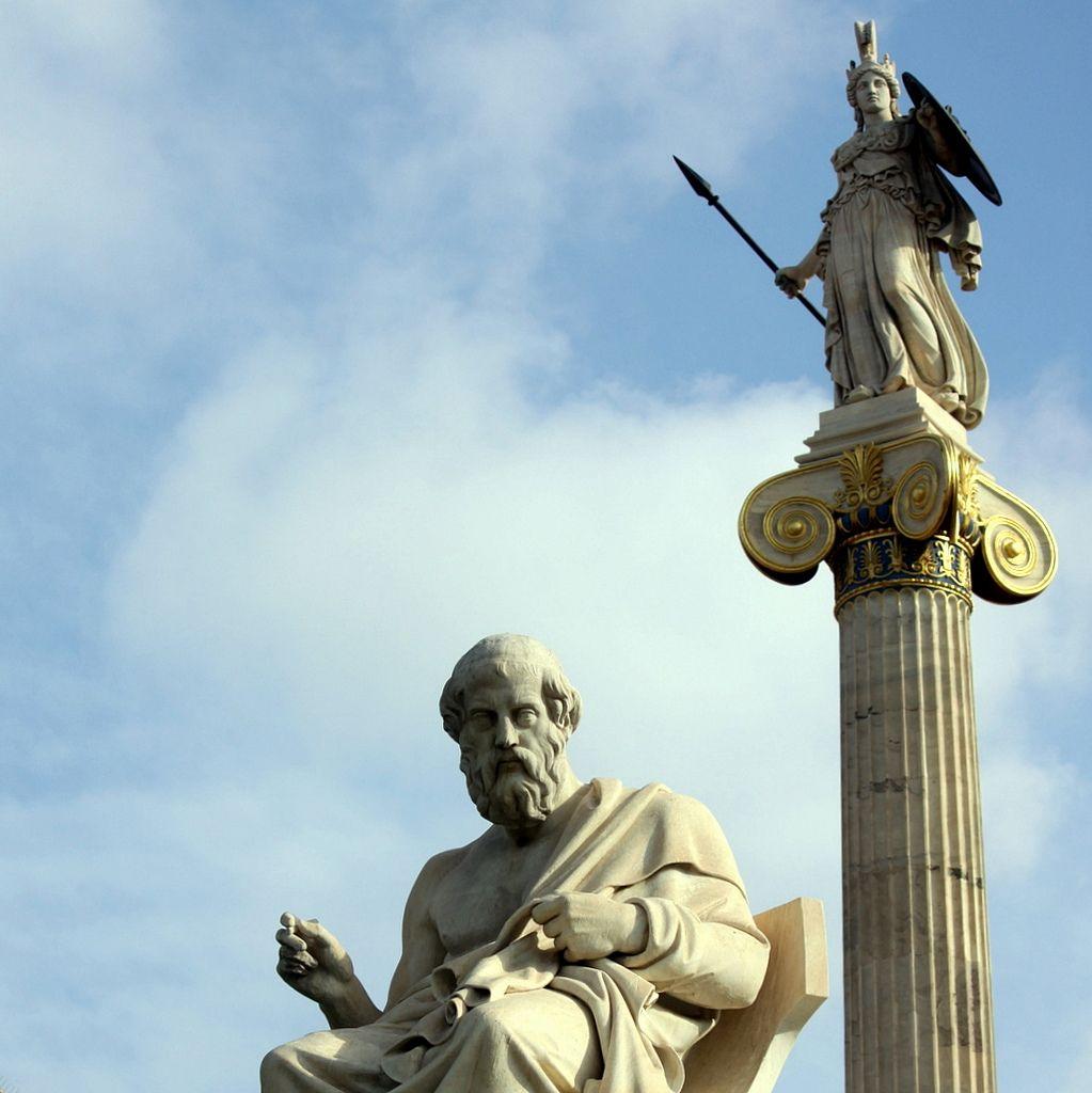 Plato and Athena - Academy of Athens, Greece