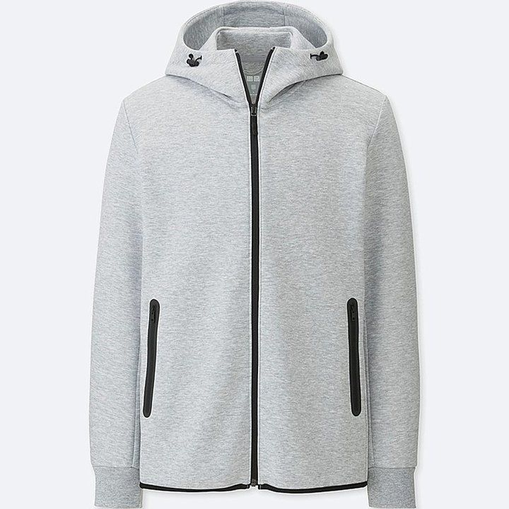 Mens Tech Fleece Hoodie Zipper Dry Active Gym Athletic Lounge Casual Full Zipper