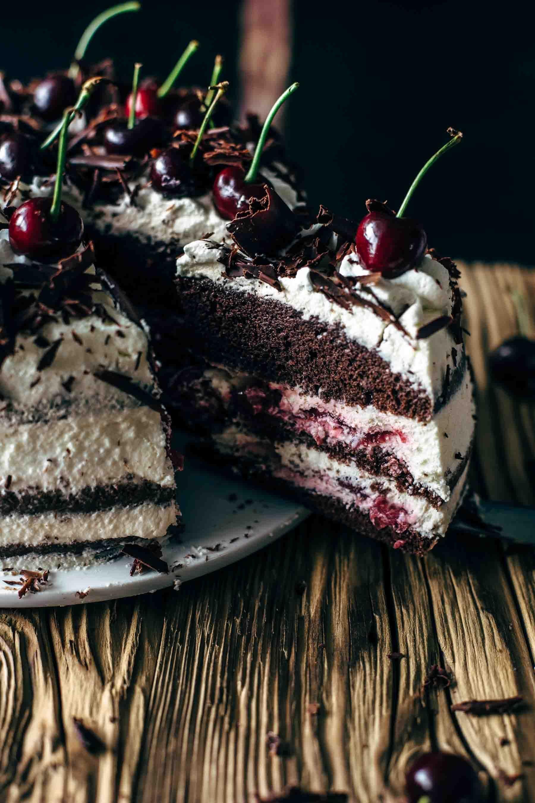 Black Forest Cake Recipe - Schwarzwälder Kirschtorte