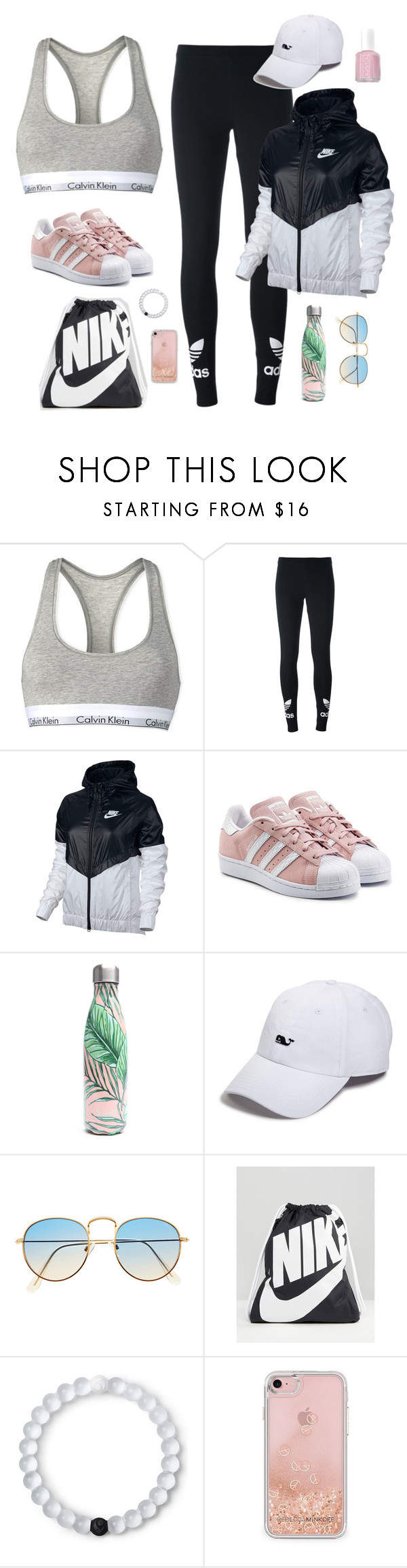 """Wish list"" by jjjunebug2 ❤ liked on Polyvore featuring Calvin Klein, adidas Originals, NIKE, S'well, Vineyard Vines, Lokai, Rebecca Minkoff and Essie"