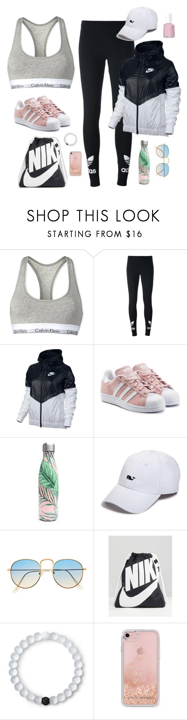 """Wish list"" by jjjunebug2 ❤ liked on Polyvore featuring Calvin Klein, adidas Originals, NIKE, S'well, Vineyard Vines, Lokai, Rebecca Minkoff and Essie"