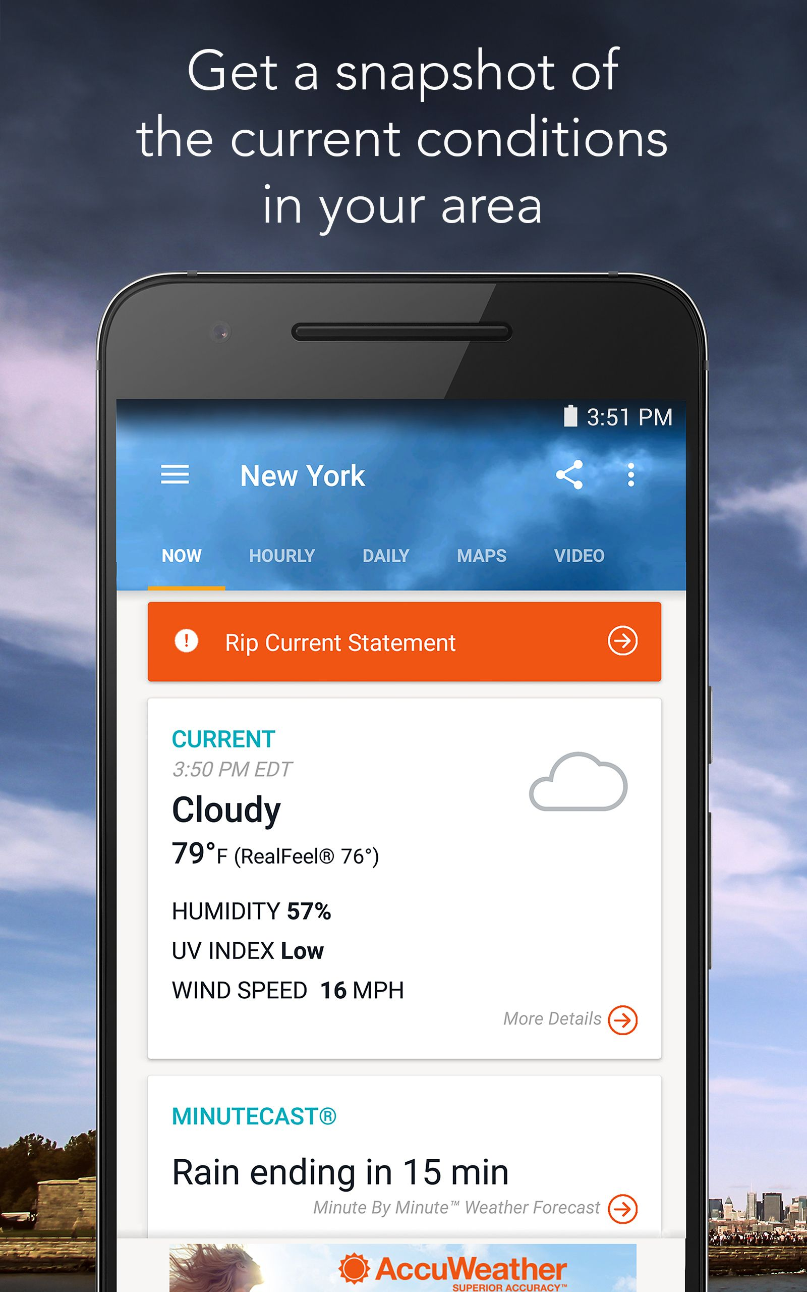 AccuWeather with Superior Accuracy AccuWeather,