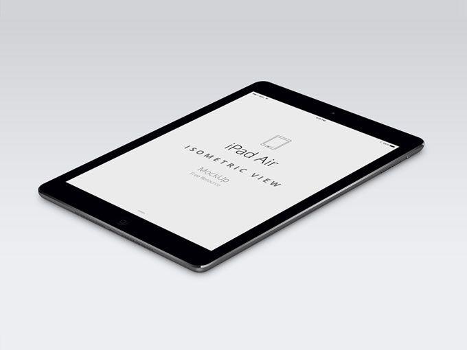 iPad Air - Perspective Mockup