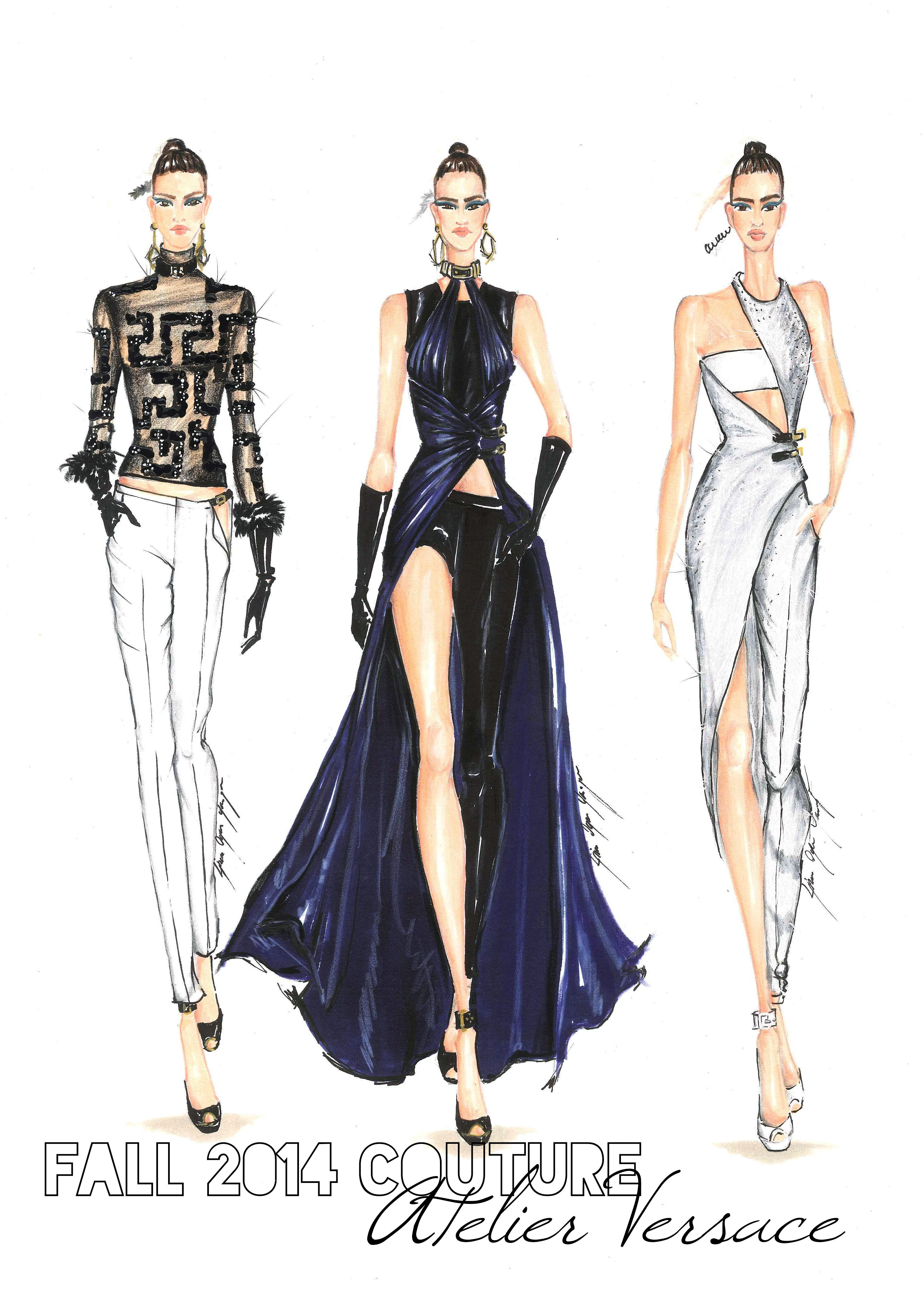 Dresses versace sketches fotos
