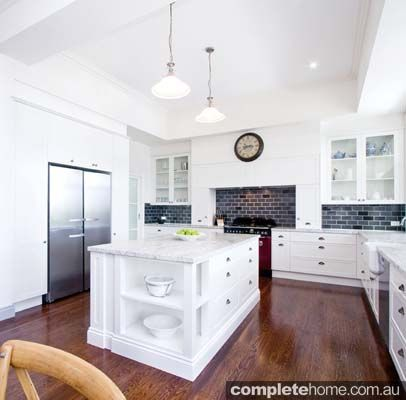 garsden clarke kitchens white gloss kitchen with streamline appliances timber flooring and spacious design features