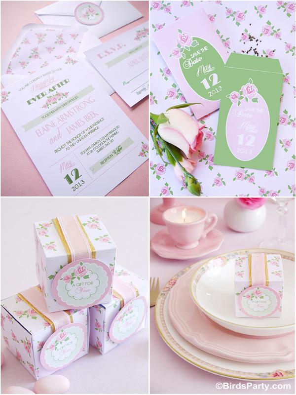 DIY Wedding Ideas for HGTV   FREE Printable Wedding Stationery!!! by Bird's Party