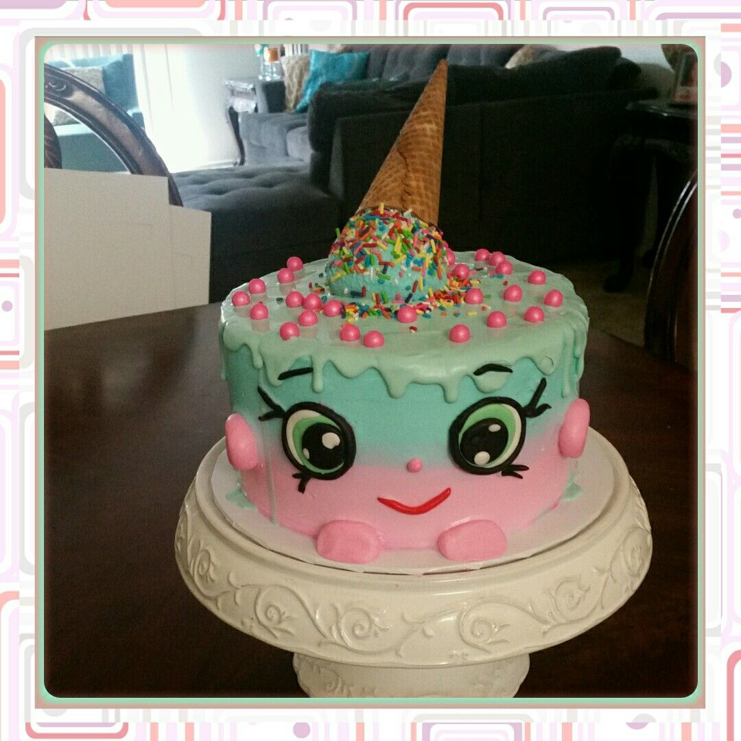 Shopkins Ice Cream Cake Homemade Cake