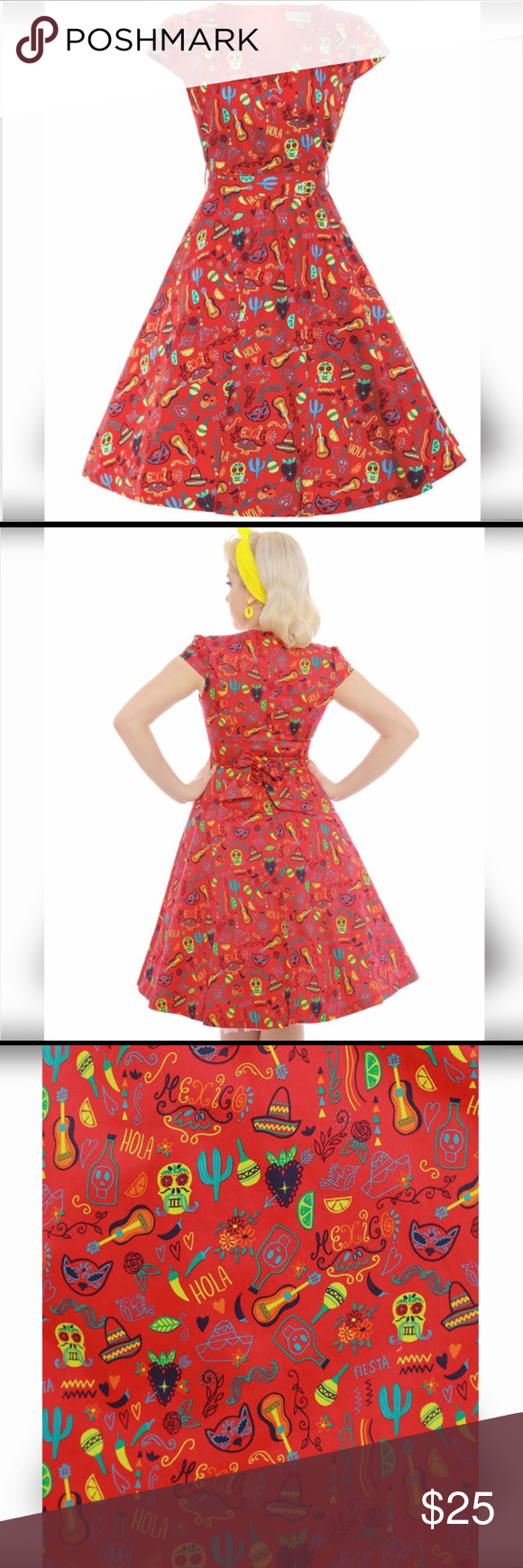 Lindy Bop Swing Dress New Size Us 12 Uk 16
