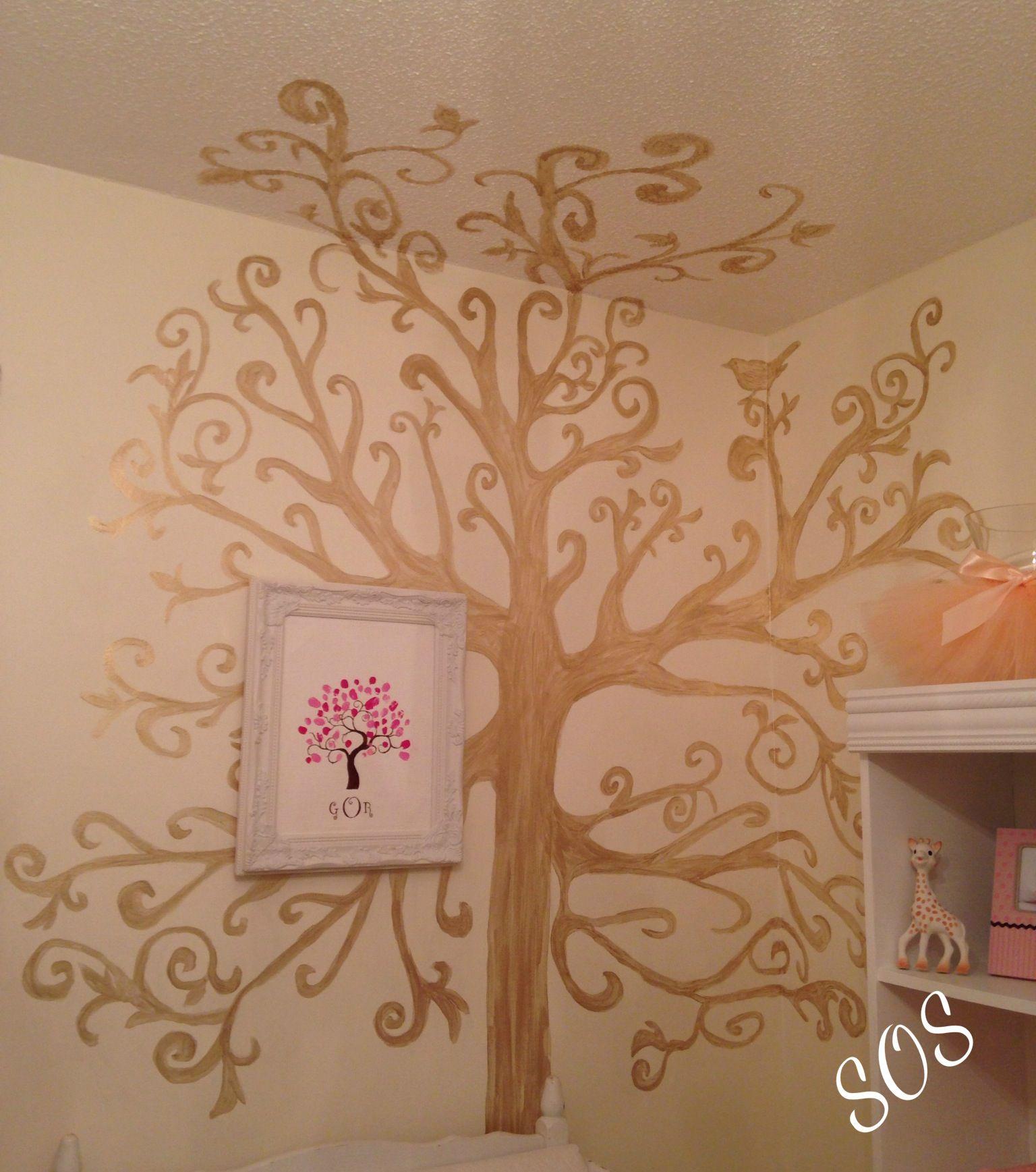 Woodland Tree. White & Gold Nursery.