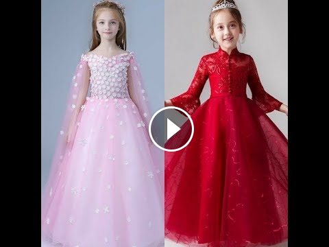 2b17f3eed4d8 LATEST DESIGNER KIDS DRESSES  GOWN FOR KIDS  KIDS GOWN COLLECTION 2018-