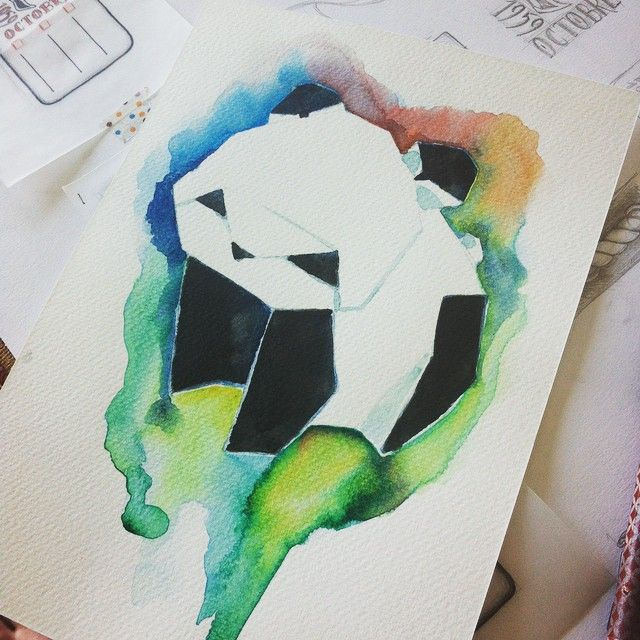 Un peu de douceur dans ce monde de brutes #draw #drawing #watercolor #watercolors #dessin #aquarelle #panda #art #artist #instartist #artwork #ink #encre #origami
