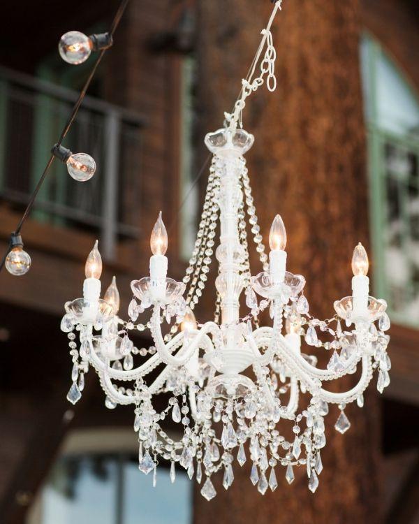 Charming Elegant Outdoor Crystal Chandelier   Elizabeth Anne Designs: The Wedding  Blog