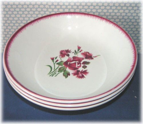 Ancien Plat  DIGOIN    Bouquet Fleuri   décor à la rose