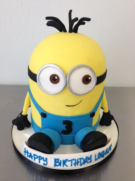 Minion Cake Kids Birthday Cakes Pinterest Birthday cakes