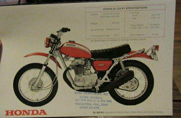 Honda Sl350 Motosport Vintage Motorcycle Posters Motorcycle Posters Honda