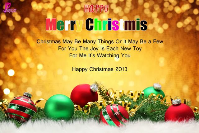 Merry Christmas Happy Christmas SMS Message Quote with Card ...