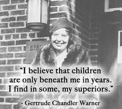 "Gertrude Chandler Warner, author of ""The Boxcar Children."" 