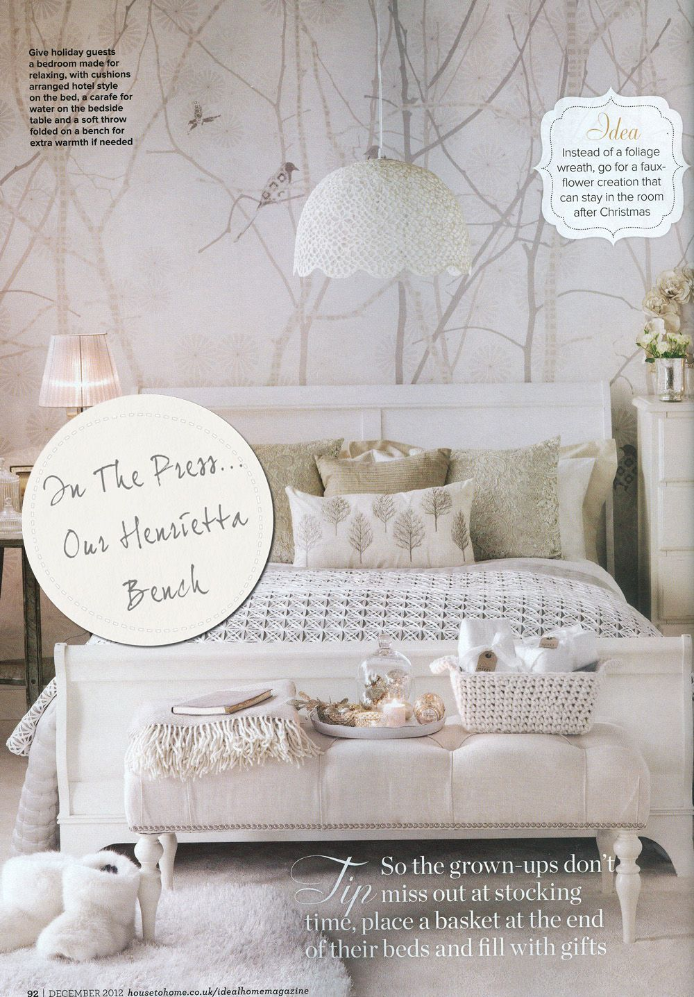 Ideal Home, Dec Issue create a beautiful guest bedroom for Christmas ...