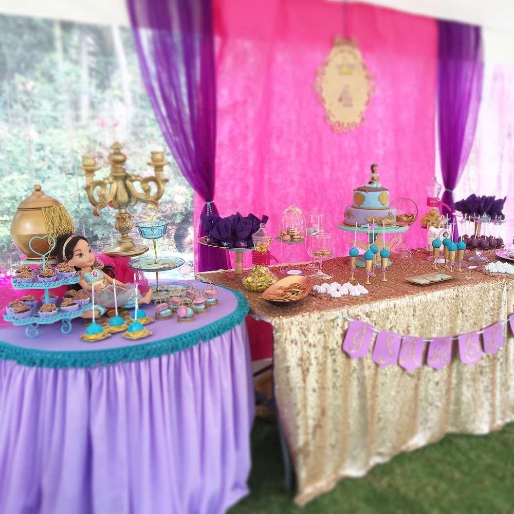 Princess Jazmin Birthday Party Ideas | Fiesta de jazmín, Fiestas ...